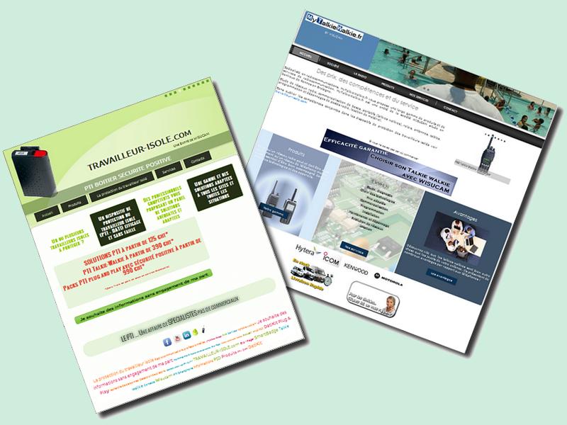 Les sites spécialisés de WISUCAM dédiés à la protection du travailleur isolé et aux radiocommunications professionnelles