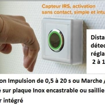 Bouton poussoir / Interrupteur sans contact