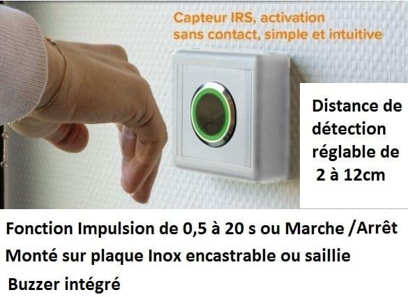 Bouton poussoir / Interrupteur sans contact
